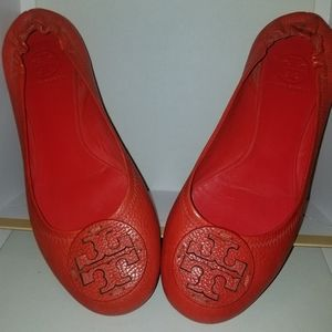 Tory Burch size 9.5 red Reva Flats